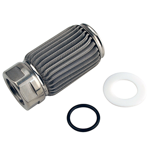 Aeromotive 12606 Filter Element Only, Crimp Construction, 100-m Stainless Mesh, ORB-10 outlet, For All Fuel Types