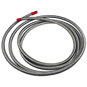 Aeromotive 15704 Hose, Fuel, Stainless Steel Braided, AN-08 x 4'