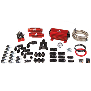 Aeromotive 17125 A1000 EFI Fuel System:  (P/N 11101 pump, 13101 reg., (2) filters, hose, hose ends, fittings, and wiring kit).