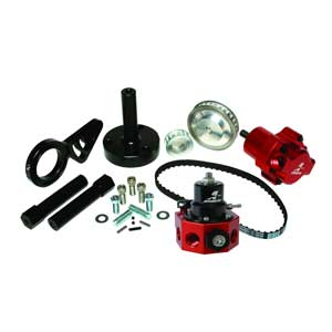 Aeromotive 17243 Big Block Chevy belt drive fuel pump (p/n 17241) and double adjustable Regulator (p/n 13209) Bolt-on Kit