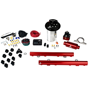 Aeromotive 17349 System, 10-13 Mustang GT, 18695 Elim, 14130 5.0L 4V Rails, 16306 PSC & Misc. Fittings