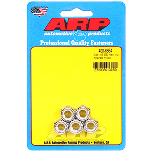 ARP 400-8664 3/8-16 SS coarse nyloc hex nut kit