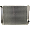BSC 26in x 19in GM Crossflow Tube Aluminum Radiator - Top Left Inlet / Bottom Right Outlet