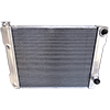 BSC 26in x 19in GM Double Pass Aluminum AN Fitting Style Radiator - Top Right Inlet / Angled Bottom Right Outlet