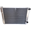 BSC 28in x 19in GM Double Pass Aluminum Radiator - Top Right Inlet / Angled Bottom Right Outlet