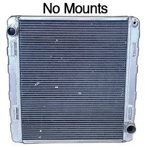 BSC 23.5in x 23.5in x 3.5in Northeast DIRT Modified Double Pass Aluminum Radiator - Top Right Inlet / Bottom Right Outlet