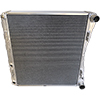 BSC 23.5in x 23.5in x 3.5in Northeast DIRT Modified Double Pass Aluminum Radiator w/ Mounts - Top Right Inlet / Bottom Right Outlet
