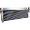 "BSC Lightweight Oil Cooler, 17.5"" x 8"" With 1"" Flanges"