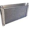 "BSC Lightweight Oil Cooler, 15.5"" x 9"" With 1"" Flanges"