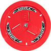 Dirt Defender Vented Wheel Cover, Red