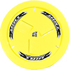 Dirt Defender Vented Wheel Cover, Neon Yellow