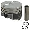 Federal-Mogul, H113CP, Speed-Pro, Cast, Pistons