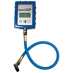 Intercomp 360045 Digital Air Pressure Gauge W/Ang Chuck (99.99Psi)
