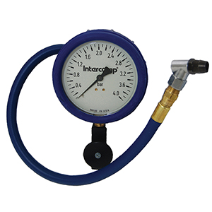 Intercomp 360090 4in. 0-4 Bar Glow-In-The-Dark Fill, Bleed & Read Air Pressure Gauge
