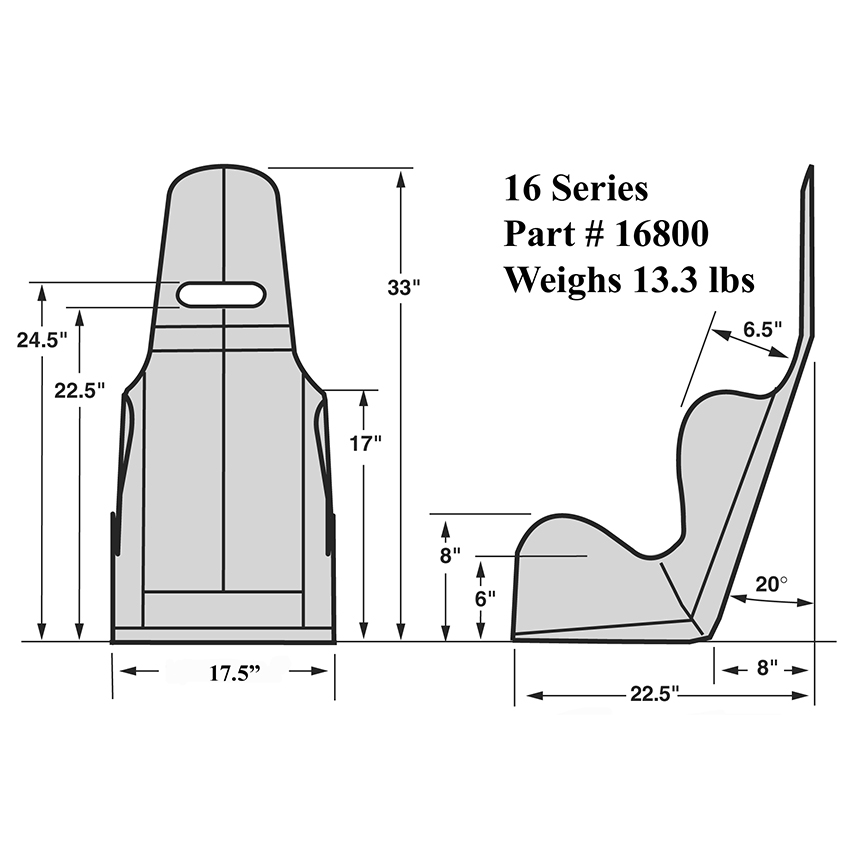 kirkey racing 16 series economy drag seat 16
