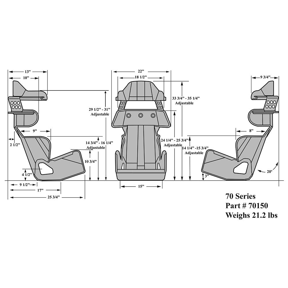 70 Series 20 Deg Layback Cont Seat