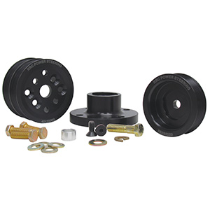 KRC 38615000 15% Serpentine Pulley Kit, Small Block Ford 4-bolt