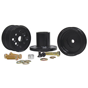 KRC 38620000 1 to 1 Serpentine Pulley Kit, Small Block Ford 3-bolt