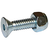 PANELfast 1in. X 1/4in. Flat Allen Bolt & Ny Lock Nut For 8620