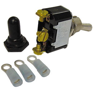 Quantum 360-1211 On/Off/On Two Position Toggle Switch with Rubber Cover