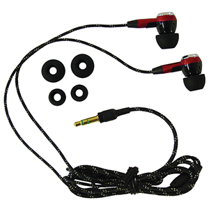 Earpiece Rookie with Rubber Tips
