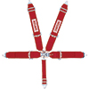 Simpson Latch & Link Individual Racing Harness With Narrow Shoulder Belts, 5-Point, Red