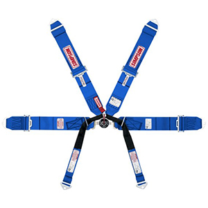 Simpson 6 Point Formula Style Individual Harness Pull Up Blue 29114Bu