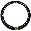 Weld Racing P650-5275M 15 Inch 16-Hole Bolt-On Modified Beadlock Ring - Black, With Cover