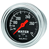 "Auto Meter 2431 Traditional Chrome 2-1/16"" Water Temperature Gauge, 140-280 F Mechanical"