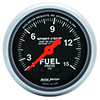 "Auto Meter 3311 Sport-Comp Mechanical 2-1/16"" Fuel Pressure Gauge, 0-15 PSI"
