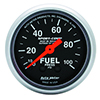 "Auto Meter 3312 Sport-Comp Mechanical 2-1/16"" Fuel Pressure Gauge, 0-100 PSI"