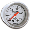 "Auto Meter 4321 Ultra-Lite 2-1/16"" Oil Pressure Gauge, 0-100 PSI Mechanical"