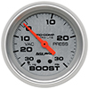 "Auto Meter 4403 Ultra-Lite 2-5/8"" Boost/Vacuum Gauge, 30 HG/30 PSI Mechanical"