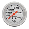 "Auto Meter 4441 Ultra-Lite 2-5/8"" Oil Temperature Gauge, 140-280 F Mechanical"
