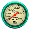 "Auto Meter 4541 Ultra-Nite 2-5/8"" Oil Temperature Gauge, 140-280 F Mechanical"
