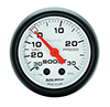 "Auto Meter 5703 Phantom 2-1/16"" Boost/Vacuum Gauge, 30 HG / 30 PSI Mechanical"