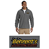 Behrent's Logo 8oz. Full Zip Fleece Jacket - Charcoal Harriton