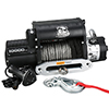 10000lb Winch w/5.8hp Series Wound, Integrated, 100ft Synthetic Rope, Alu Frl