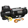 12500lb Alpha Series Winch, 100ft Synthetic Rope, Roller Frld