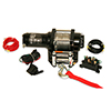 2500lb ATV Winch, with Mini-Rocker Switch, Mounting Channel, Roller Fairlead