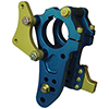Bert CTD-050-L Adjustable Birdcage Bracket - Blue/Gold (Left Side)