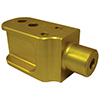 Coil Over adaptor for teo bracket-Gold