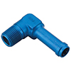 Earls Hose Barb to Pipe Thread Adapters 90 Degree