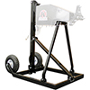 Tire prep stand/cart for use with the high torque electric tire machines