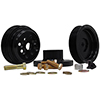 1 To 1 Serp Pulley Kit Sb Ford 4-Bolt Hub