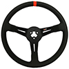 Max Papis Innovations MPI-BL-14-PA 14 Inch Aluminum Black Strip Bando / Legend 3 Hole Steering Wheel