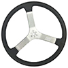"15 Inch Dished (2.16"") Dirt Circle Track Steering Wheel Sprintcar/Dirt Late Model Aluminum"