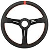 Max Papis Innovations MPI-DO-14-HG 14 Inch Aluminum Orange Strip Off Road / SXS / Drifting 6 Hole Steering Wheel