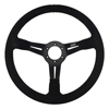 Max Papis Innovations MPI-DO-14-SB 14 Inch Suede Black Strip Off Road / SXS / Drifting 6 Hole Steering Wheel