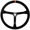 Max Papis Innovations MPI-DP-13 Light Weight 13 Inch Orange Strip Steel Suede Steering Wheel 3 Hole with Centerpiece